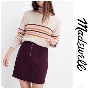 NWT MADEWELL Fireside Wool Lined Mini Skirt Sz 22!